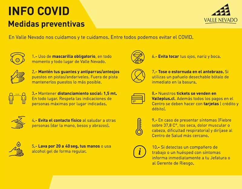 Info COVID Valle Nevado